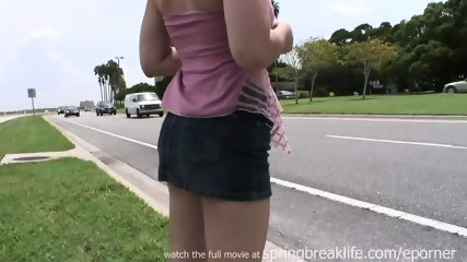 Blonde Girl Naked In Public - scene 4