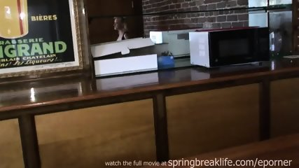 Blonde Naked Fingering On Bar - scene 3