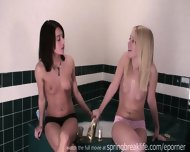 Shy Sisters Get Topless - scene 8