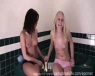 Shy Sisters Get Topless - scene 5