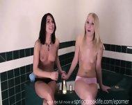 Shy Sisters Get Topless - scene 7