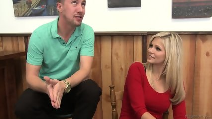 Amazing Blonde With Stockings Gets Fucked Hard - scene 1