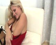 Amazing Blonde With Stockings Gets Fucked Hard - scene 3