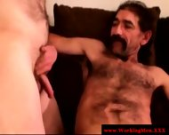 Straight Mature Bear Touching Cock - scene 1