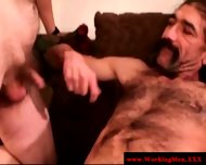 Straight Mature Bear Touching Cock - scene 8