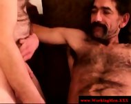 Straight Mature Bear Touching Cock - scene 3