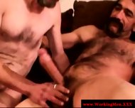 Straight Mature Bear Touching Cock - scene 7