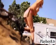 Sexy Badass Babes Enjoyed Dirty Biking While Naked - scene 9