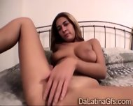 A Beautiful Big Boobed Latina Girlfriend Masturbates In Solitary - scene 10
