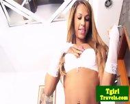 Brazilian Ts Bianca Cordelly Stripping - scene 1