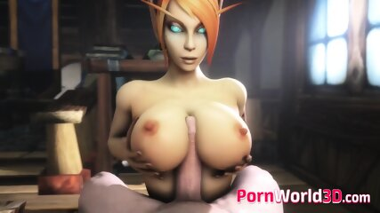 3D Blood Elf from World of Warcraft Gets a Nice Pounding from Behind