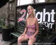 Blonde Girl Public Flashing - scene 3
