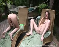 2 Girls Masturbating Sundeck - scene 11
