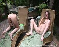 2 Girls Masturbating Sundeck - scene 11