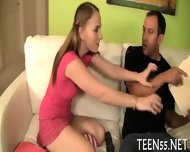 Naughty Latina Teen Grabs A Cock - scene 3
