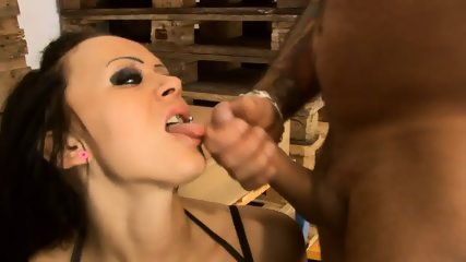 Slutty Brunette Fucked In Storehouse - scene 12