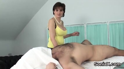 Adulterous english milf lady sonia displays her monster hooters