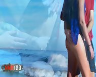 Brunette With Small Tits Gets Fucked On The Beach - scene 2