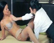 Luxury Women In Pants Enjoying Strap - scene 4