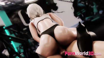 3D Compilation of 2B with Big Perfect Booty