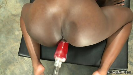Big booty ebony fucking machine