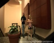Cute Blonde Flashes Downtown - scene 1