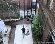 Cute Blonde Flashes Downtown - scene 9