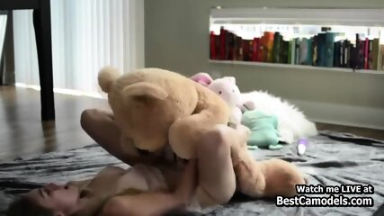 Gorgeous Young adults Golden-haired Likes Teddy Bear Dildo Webcam