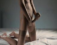 Luxury Glamour In Nylon Jerking Off Strapon - scene 9
