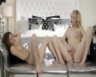 Blondie And Brunette Beauty In Silver - scene 8