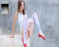 Bewitching Peening Of Super Skinny Girl - scene 7