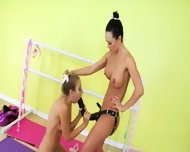 Lesbian Anal Deepfucking With Strapon - scene 10