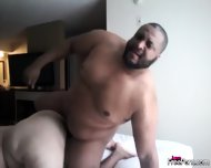 Fat Interracial Couple Have Doggystyle Fuck - scene 4