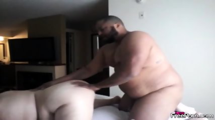 Fat Interracial Couple Have Doggystyle Fuck - scene 5