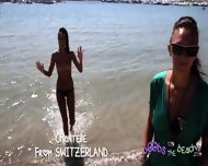 Topless Interview With Chantelle From Switzerland - Birthmark, Pierced Tongue And Nipple - scene 3