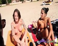 Topless Interview With Three Sexy Spanish Dancers Big Fake Tits - scene 10