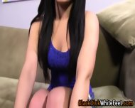High Heeled Babe Footjob - scene 1