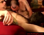 Three Straight Mature Bears Gay Sucking - scene 2