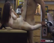 Babe In Glasses Pawns Her Pussy And Nailed At The Backroom - scene 9