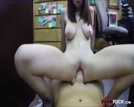 Babe In Glasses Pawns Her Pussy And Nailed At The Backroom - scene 11