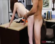 Babe In Glasses Pawns Her Pussy And Nailed At The Backroom - scene 5