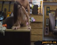 Big Natural Tits Chick In Glasses Pawns Her Pussy To Earn Money - scene 7