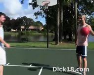 Basketball Turns Into Slam Dunk Blowjob - scene 1