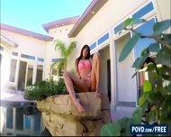 Sexy Brunette Rhayndee James Is Teasing Bf In The Poolside - scene 4