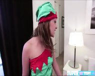 Petite Lizzie Bell Wants To Go Out And Play Ends Up Fucked By Santa - scene 2