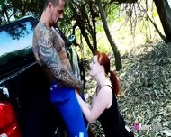 Hardcore Outdoor Sex With Redhead Whore - scene 3