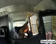 Huge Boobs Biatch Fucked In The Backseat For A Free Fare - scene 10