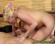 Nuru Masseuse Blows Cock - scene 9