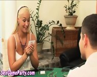 Strip Poker Game Creampie - scene 1