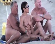 Mature Amateur Couples On The Nude Beach Sucking And Fucking - scene 12